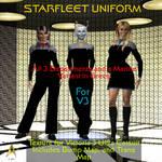 TrekkieGal: Starfleet Uniform for V3 Catsuit