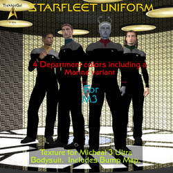 TrekkieGal: Starfleet Uniform for M3 Bodysuit by TrekkieGal