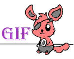 Foxy loves you GIF
