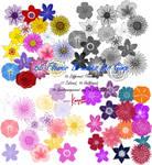 Flower Brushes for GIMP