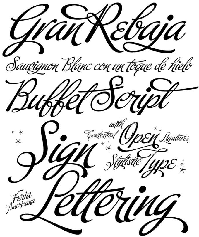 Buffet script fonts by agency fonts