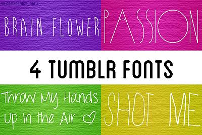 4 tumblr fonts