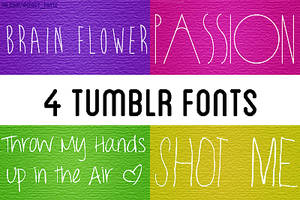 4 tumblr fonts by Agency-fonts