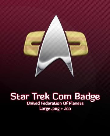 Star Trek Com Badge by michaelmknight