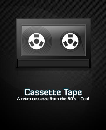 Retro Cassette Tape by michaelmknight