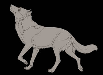 Free Canine Lineart [Color-blocked PSD File+PNG]