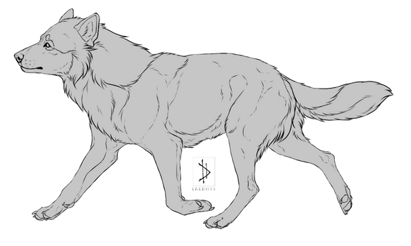 Free-Use: Canine Lineart [PSD+PNG]