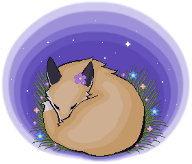 Commission - a Fox's Nighttime Meadow