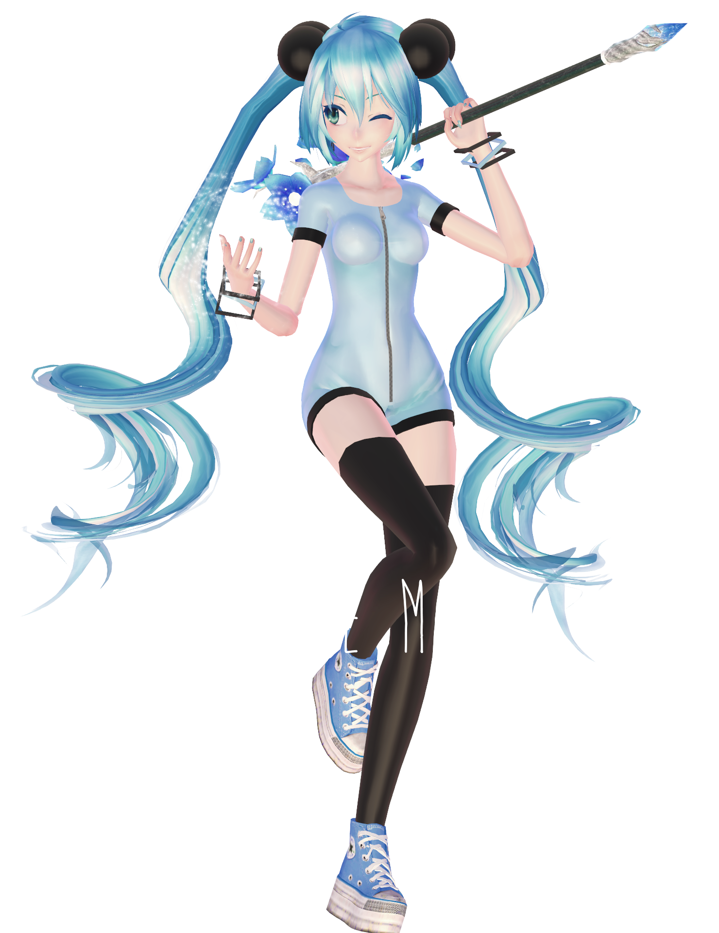 Mmd dl miku arcade rpg model by nousernameincluded on for Deviantart mmd