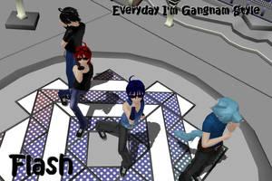 -flash- Everyday I'm Gangnam Style