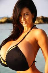 Denise Milani Black Bikini by JimmyJacks99