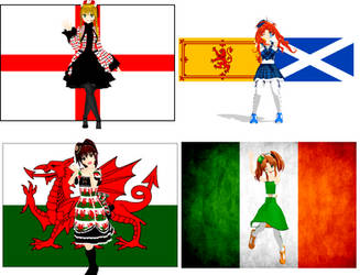 MMD United Kingdom Babes Download by Pucaroo16