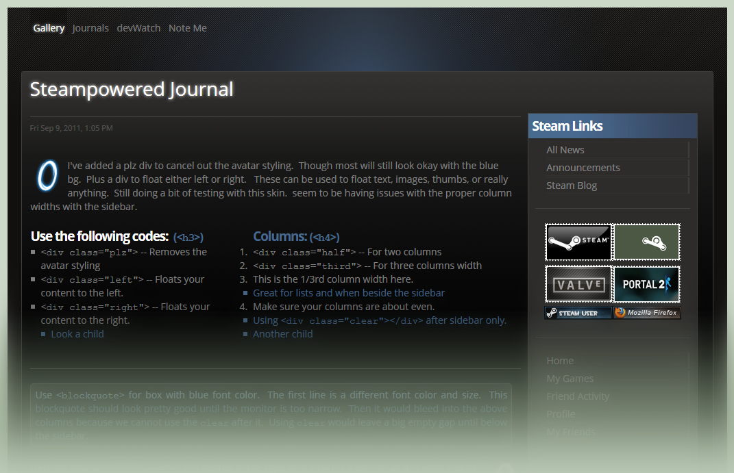 Steampowered Journal Skin by GillianIvy