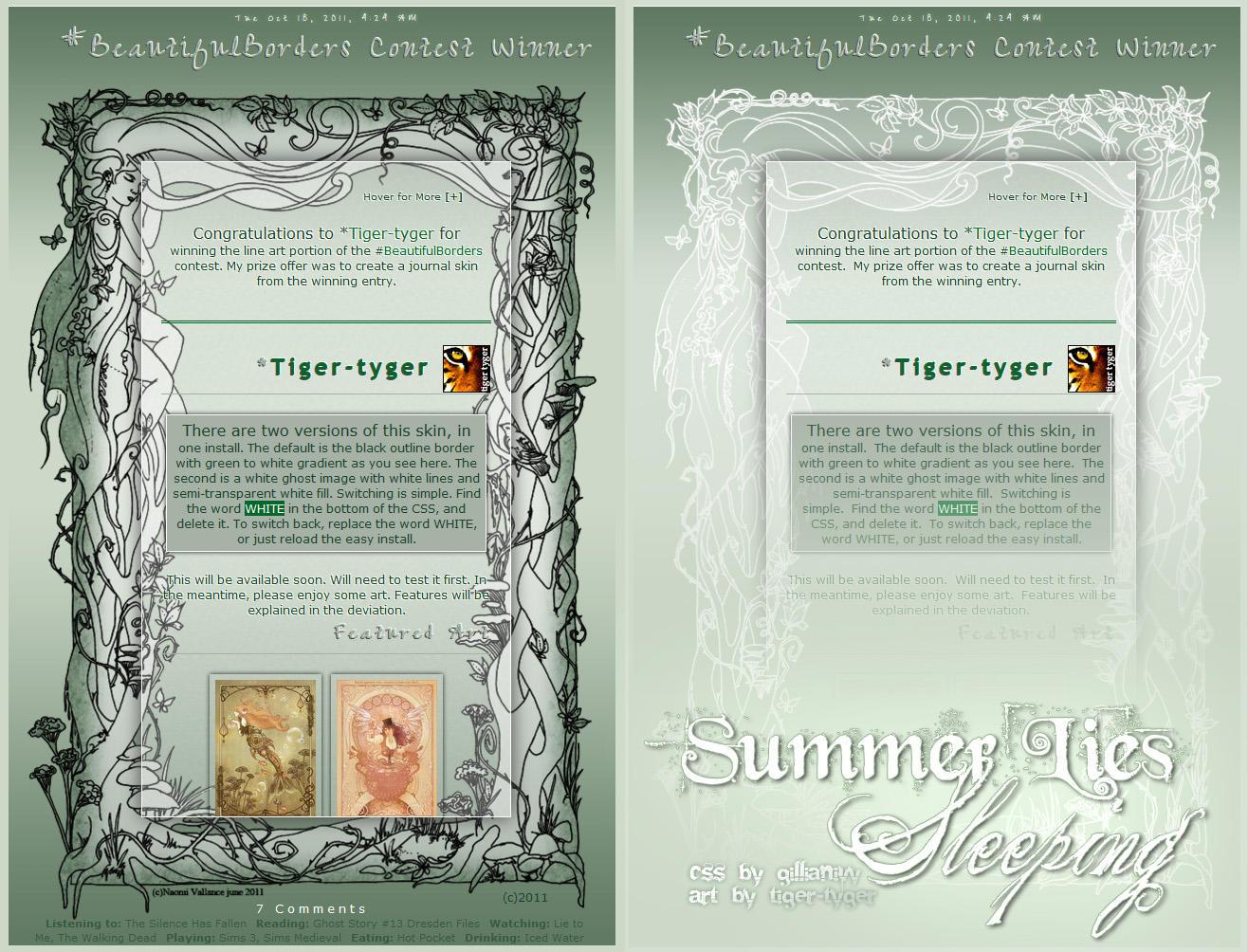 Summer Lies Sleeping Skin by GillianIvy