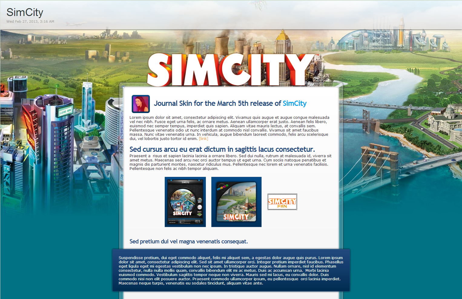 SimCity CSS - Updated by `GillianIvy