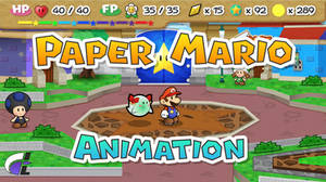 Paper Mario Animation Test - Toad Town