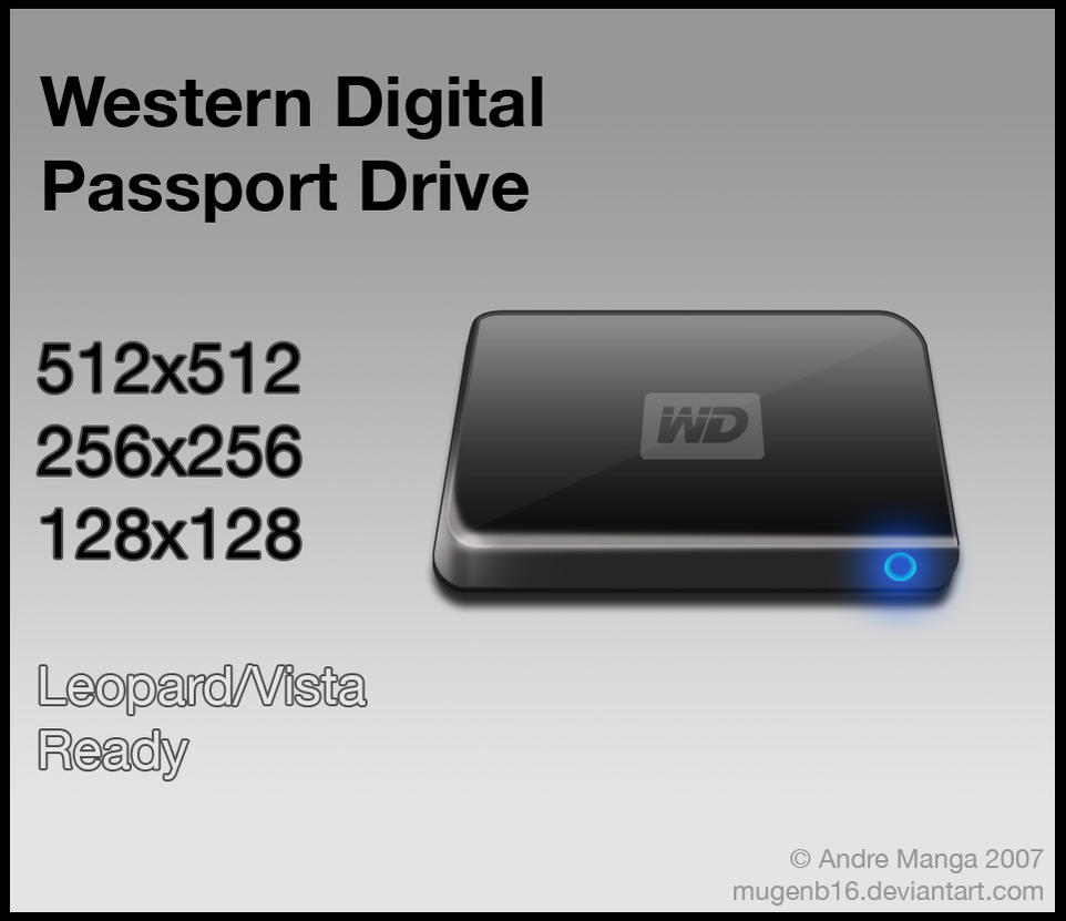 Western Digital Passport Icon by MugenB16