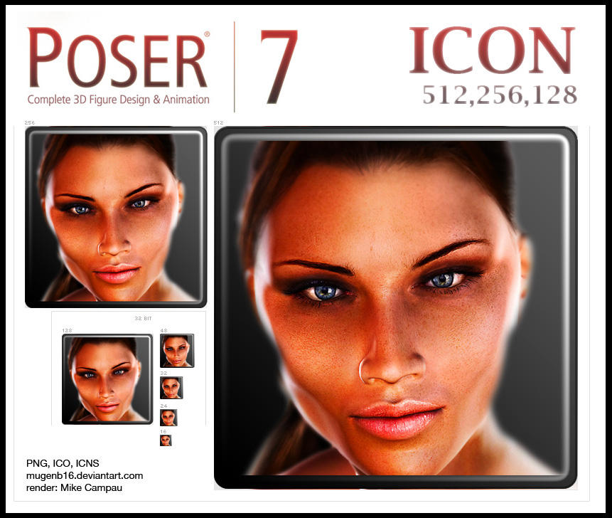 Poser 7 Icon by MugenB16