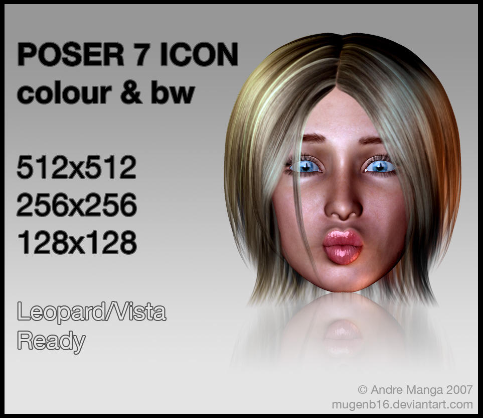 Poser 7 Icon 2 by MugenB16