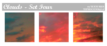 Funky Clouds - Set Four by Tarla