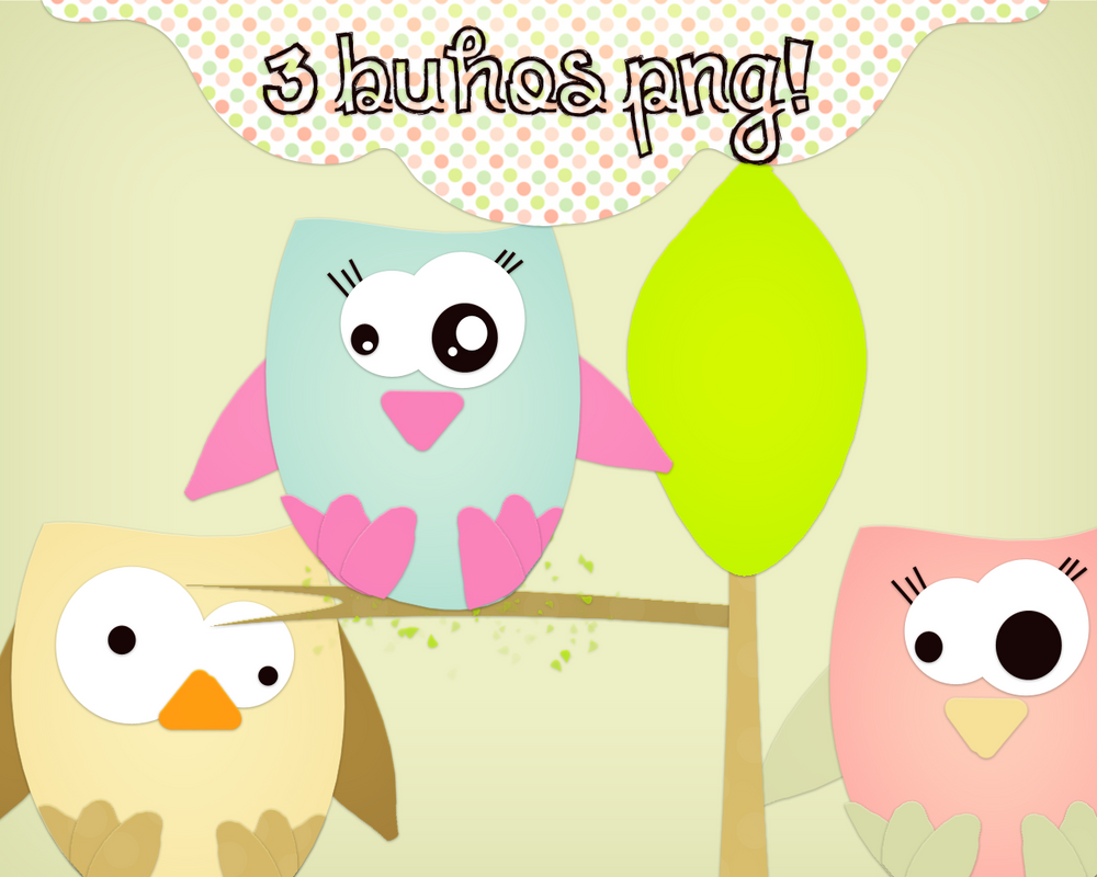 3 Buhos Png tiernos :3 by Melani-Tutorials on DeviantArt
