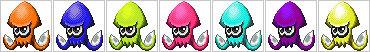 Inkling Squid Icons by SkyTheVirus