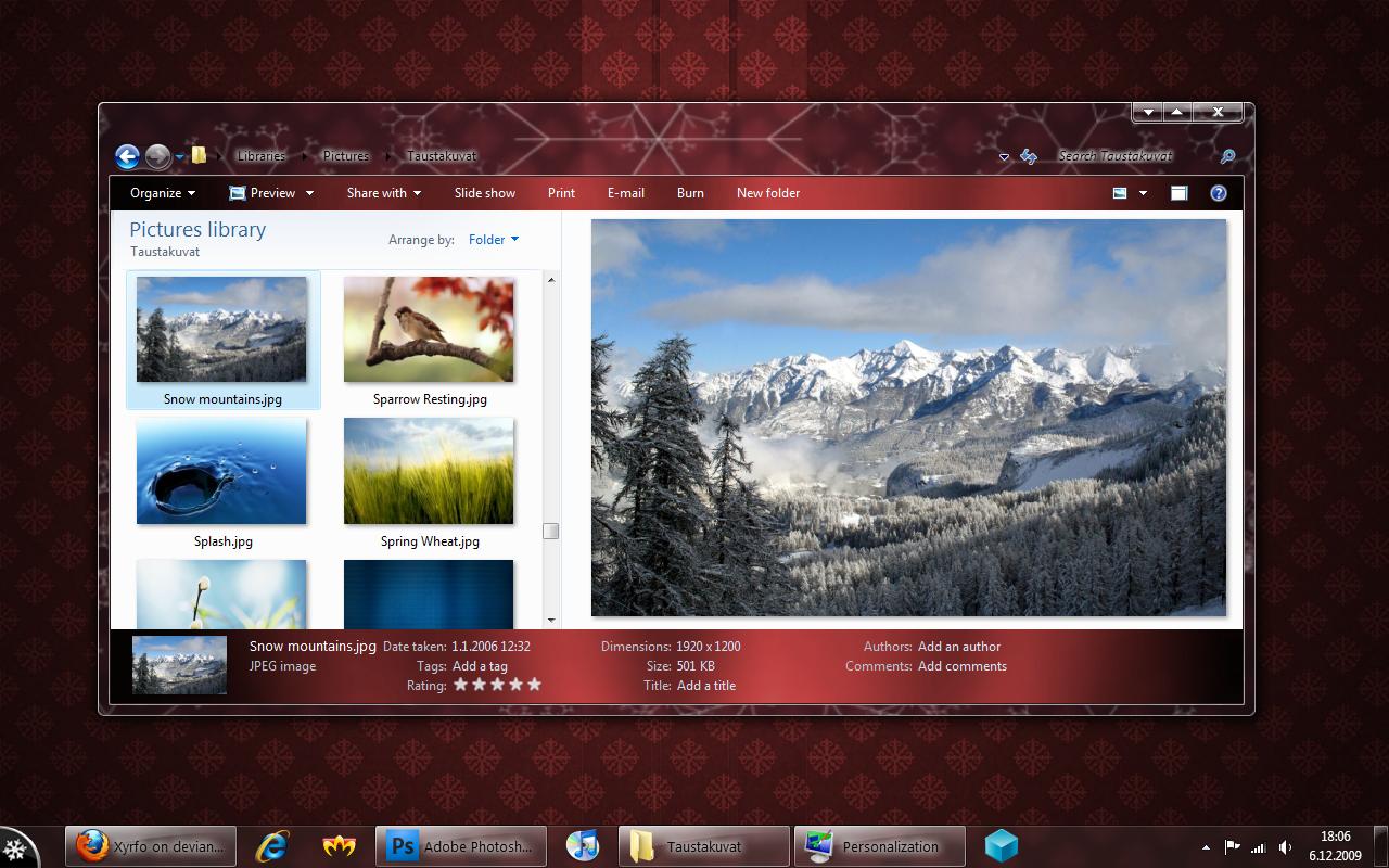 Joulu for Windows 7 by Xyrfo