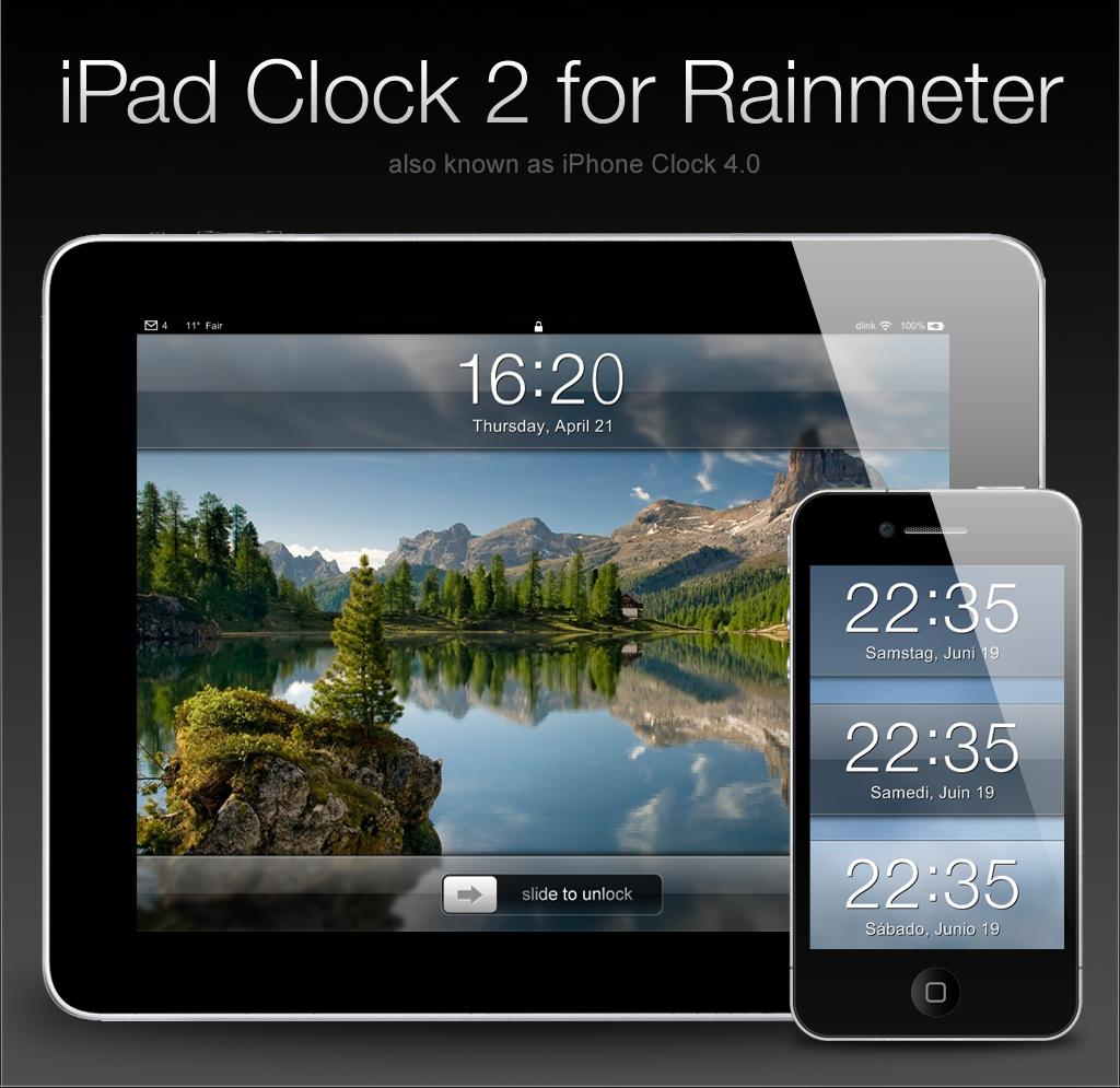 iPad Clock 2 for Rainmeter
