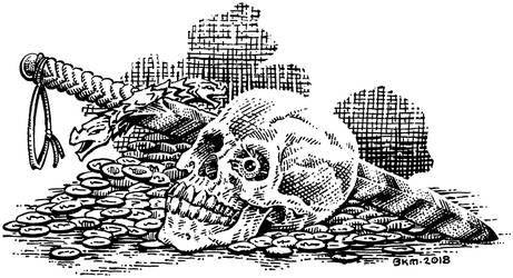 Skull With Sword-F-BKM
