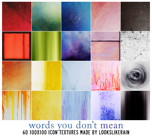 Words You Don't Mean