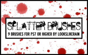 Splatter brush set by lookslikerain