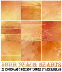 Sour Peach Hearts by lookslikerain