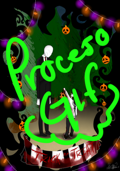 Gif- proceso trick or treat, slendy and jeff