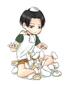 Guinea Pigs (Levi x Reader) AU by Launtisu on DeviantArt