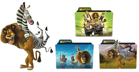 Madagascar 3 folder icon pack