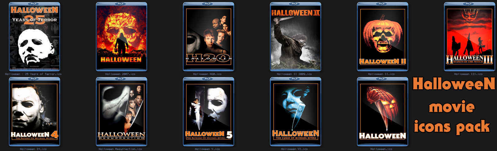 Halloween Movie Folder Icons by Rikvidr on DeviantArt