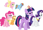 Mane Six Determined