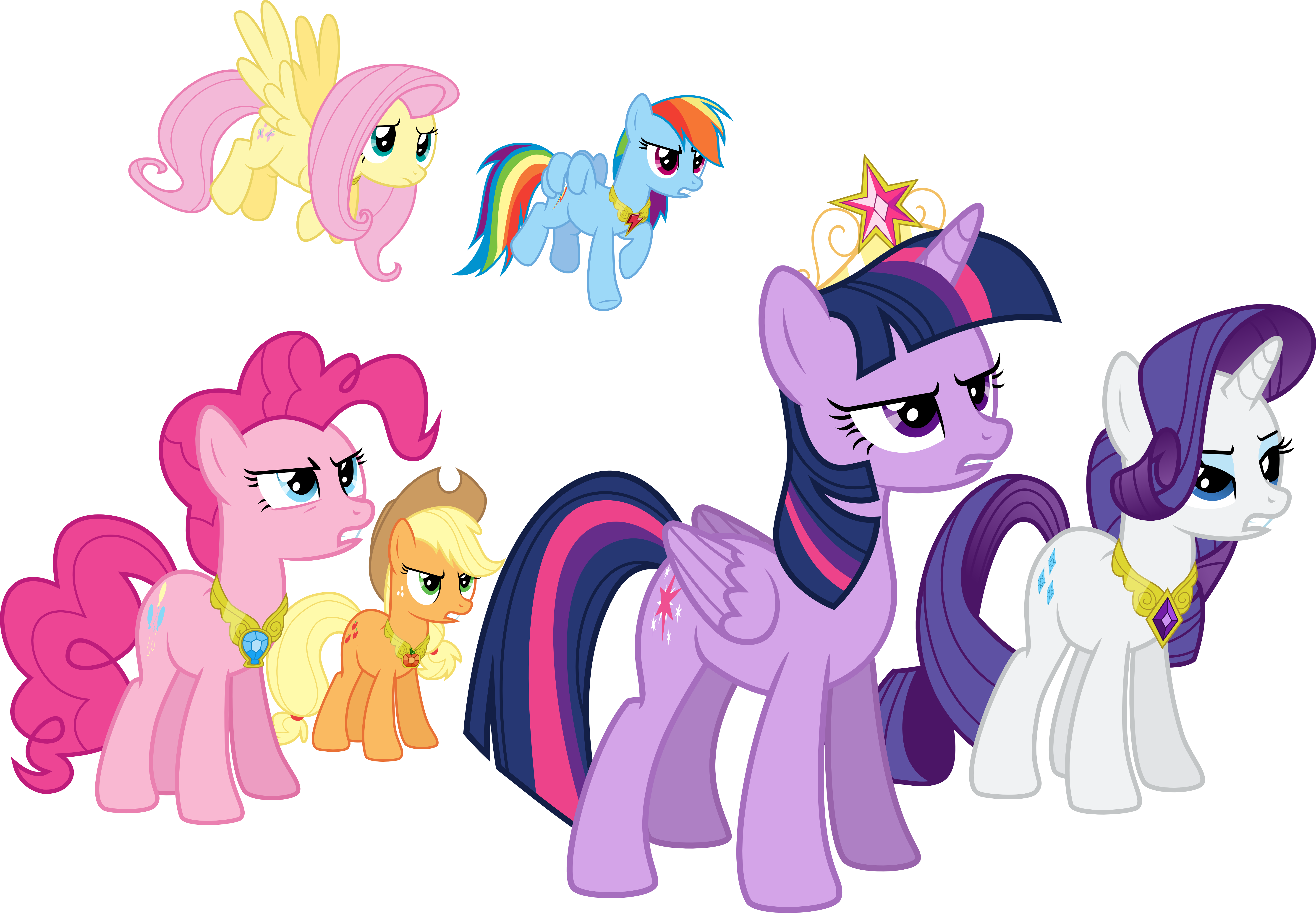 What Are The Six Main Elements Of Art : Mane six determined by jeatz axl on deviantart