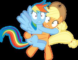 Rainbow and Applejack Exposed by Jeatz-Axl