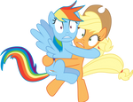 Rainbow and Applejack Exposed