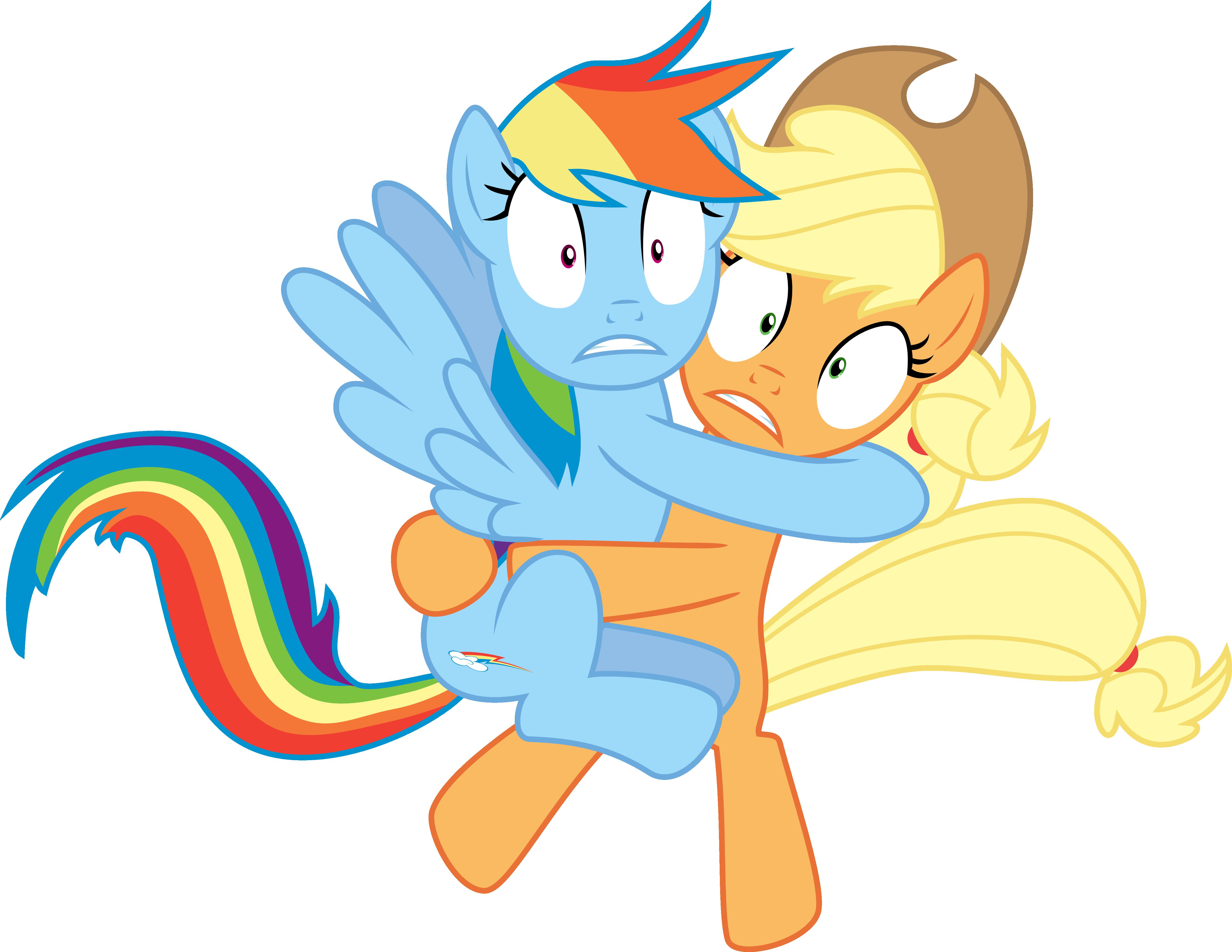 My little pony rainbow dash and applejack kiss