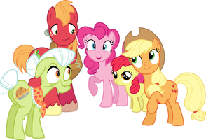Pinkie With The Apple Family by Jeatz-Axl