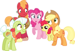 Pinkie With The Apple Family