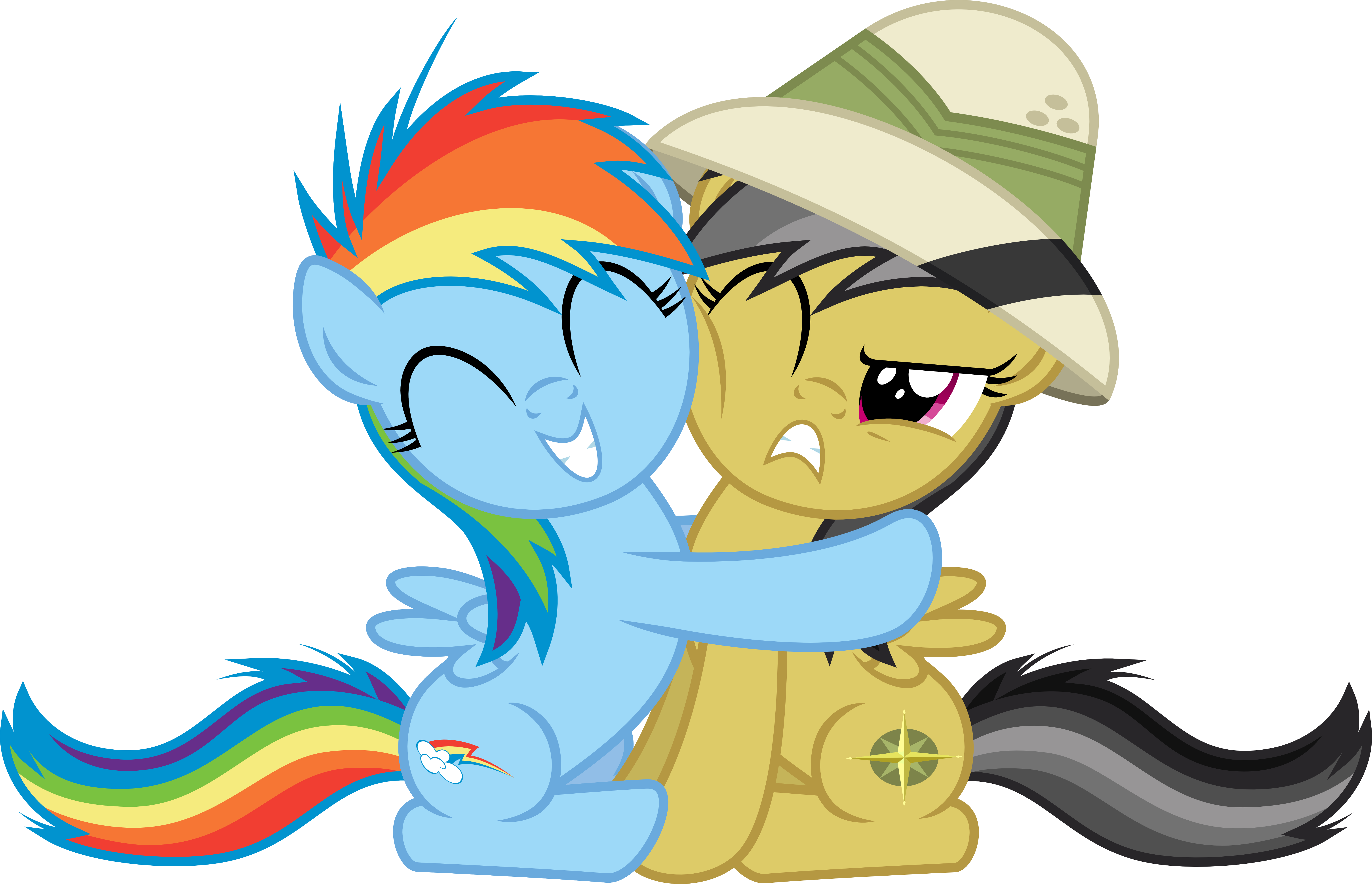 Filly Rainbow Dash Hugging Filly Daring Do by Jeatz-Axl on ...