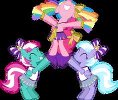 Pinkie With Cheerleaders by Jeatz-Axl