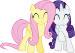 Fluttershy and Rarity Adorable