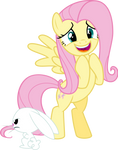 Fluttershy and Angel You have a pocket pet