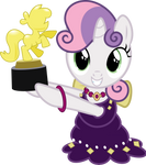 Sweetie Belle Holding a Trophy