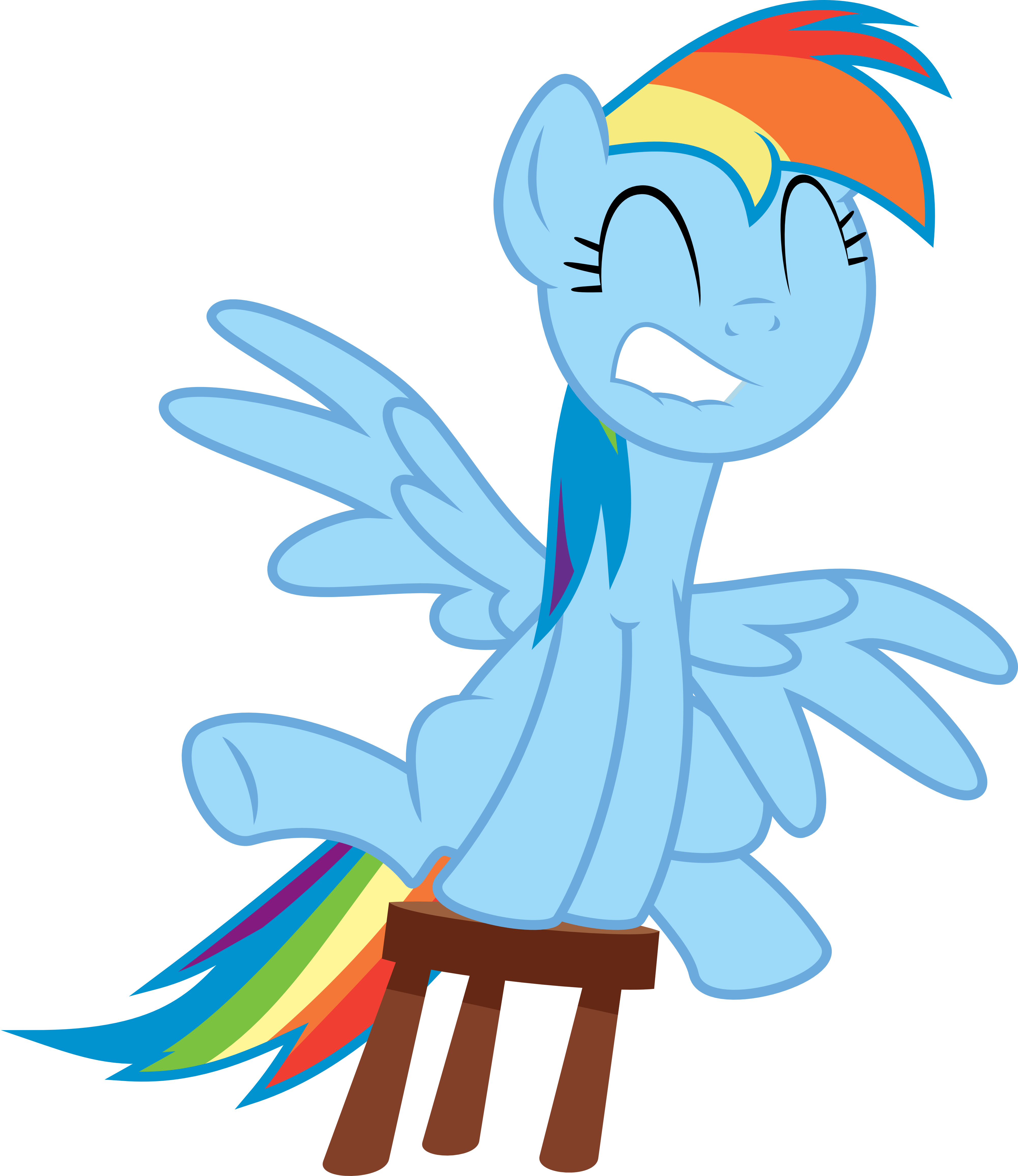 Rainbow Dash Stool Fun...