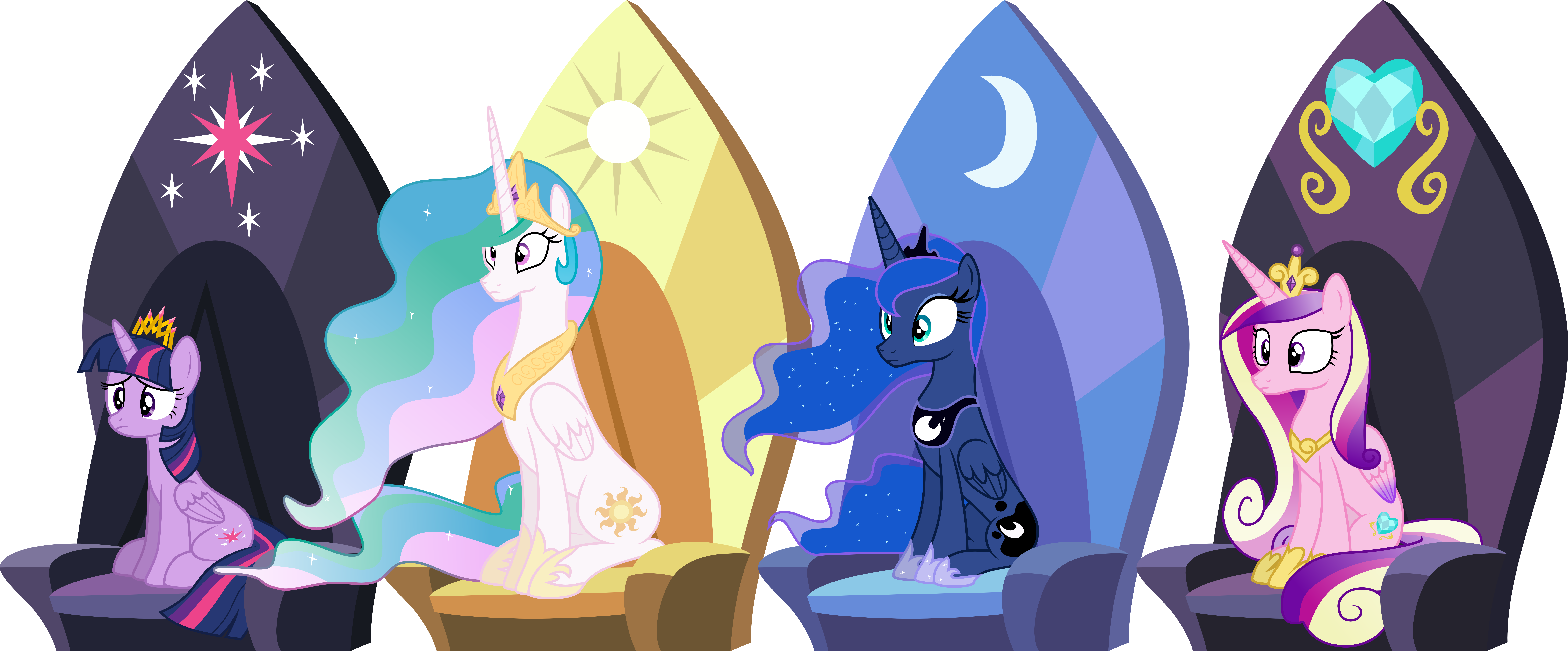 Mlp Sitting In A Chair In A Room